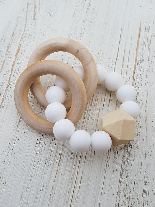 Silicone/Wood Teething Bracelet
