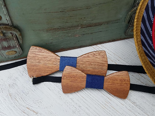 Matching Father and Son Wooden Bow Tie Set