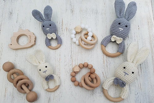 Crochet Bunny Rattle w/ Choice Variations