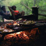 Cooking Over Campfire