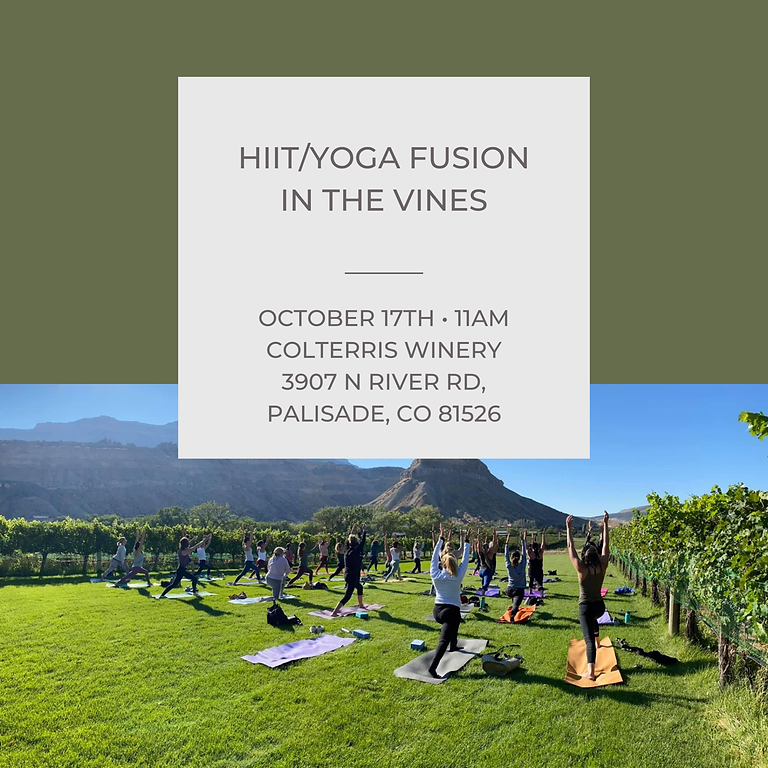 HIIT/Yoga Fusion in the Vines