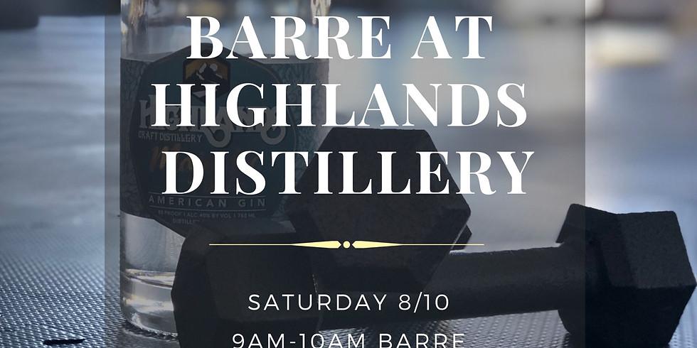 Barre + Brunch at Highlands Distillery