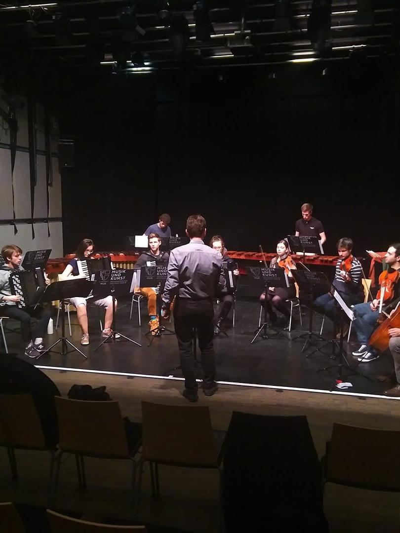 Probe zu Crossing Bach 2019