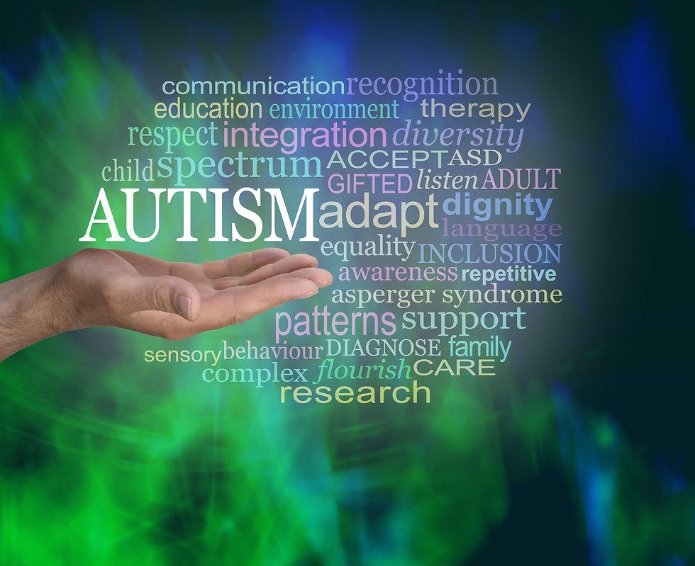 Masculine Autism Spectrum Word Tag Cloud