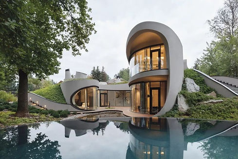 Organic-Meets-Futuristic-Design-House-in