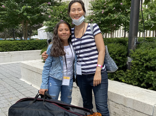 Ann Kim with Music Intensive Student Cellist