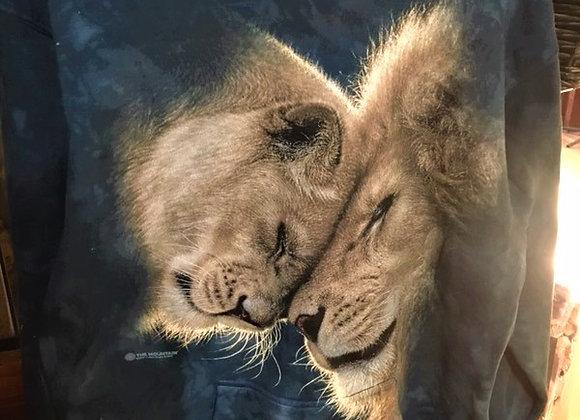 White Lion Love Hoodie