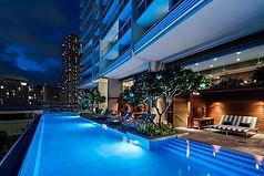 Ritz-Carlton Waikiki Beach pool_night.jp