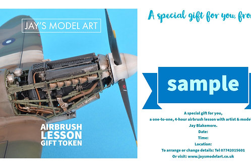 Airbrush Lesson Gift Token
