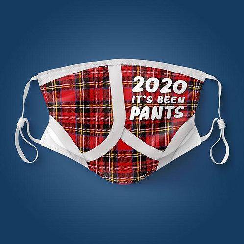 Red Tartan 2020 Pants Face Mask
