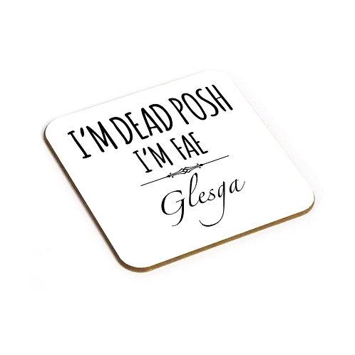 Dead Posh Coaster - Glesga