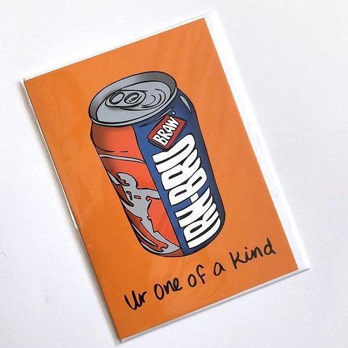 Irn Bru Greetings Card