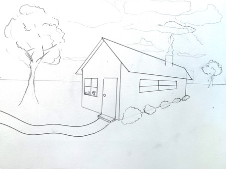 2 Point Perspective House