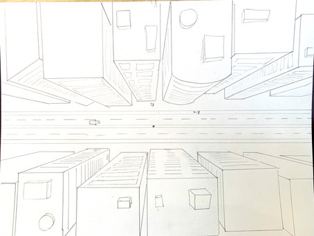 1 Point Perspective - Cityscape