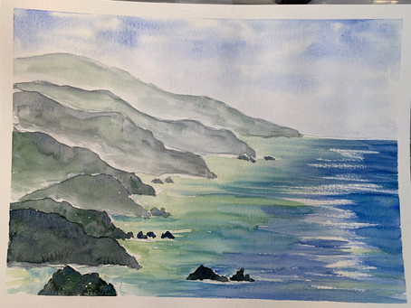 Big Sur Watercolor - Intermediate