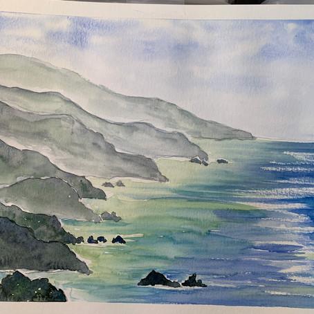 Big Sur Watercolor - Intermediate