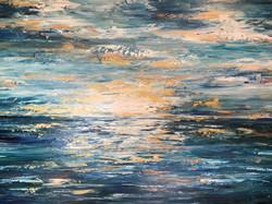 Ocean Sunset of Gold