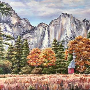 Yosemite Chapel in Autumn