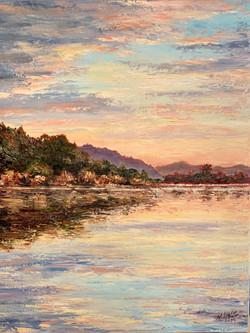 Sunset on Bolinas Lagoon