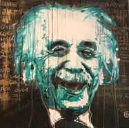 """Albert Einstein (March 14, 1879 – April 18, 1955) was a German-born theoretical physicist who developed the theory of relativity, one of the two pillars of modern physics (alongside quantum mechanics).  His work is also known for its influence on the philosophy of science.  He is best known to the general public for his mass–energy equivalence formula E = mc2.  He received the 1921 Nobel Prize in Physics """"for his services to theoretical physics, and especially for his discovery of the law of the photoelectric effect"""", a pivotal step in the development of quantum theory. Einstein was a figurehead leader in helping establish the Hebrew University of Jerusalem, which opened in 1925, and was among its first Board of Governors."""