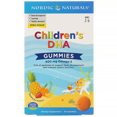 Nordic Naturals, Children's DHA Gummies