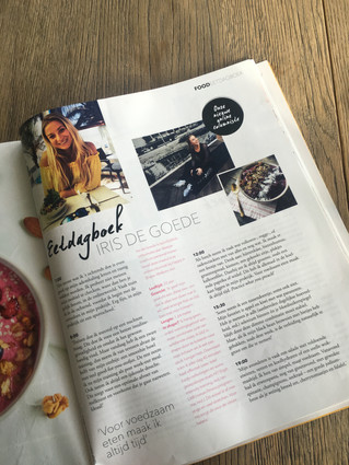 Gehele interview + eetdagboek met magazine Happy in Shape!