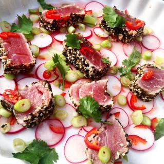 Seared Asian Tuna, Coconut Rice and Greens a la Jamie Oliver en een beetje van Fit met iris!