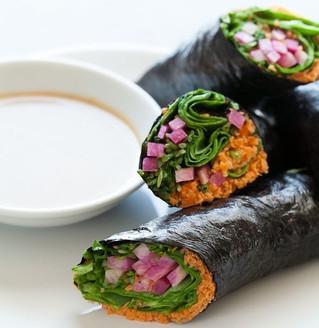 Nori wraps met humusvulling