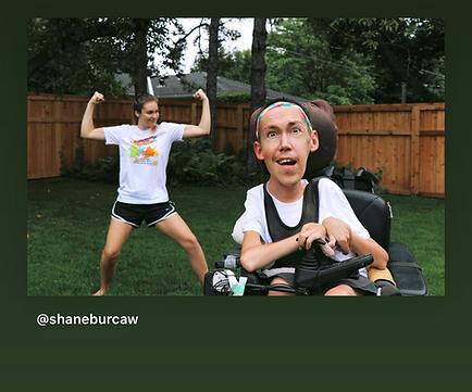 Photo of Shane and Hannah Burcaw from the 2020 Virtual Run
