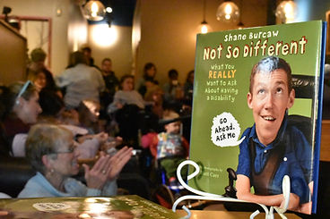 A photo of Shane Burcaw's book, Not So Different