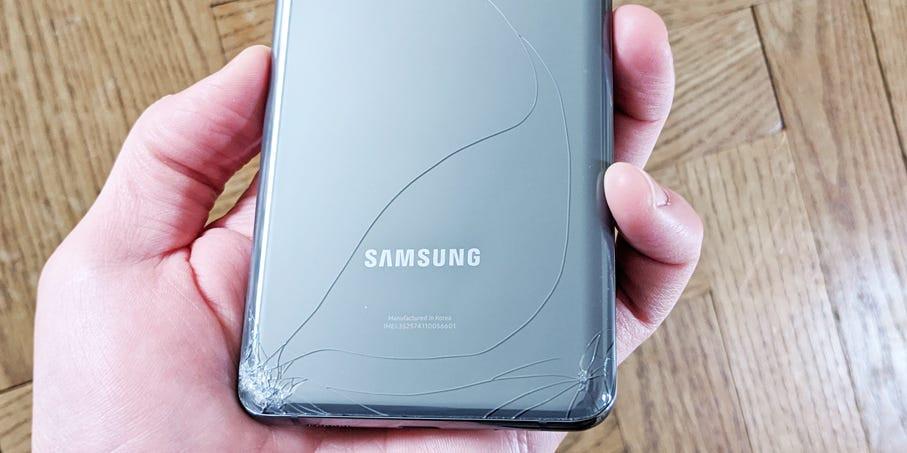 Samsung cracked back