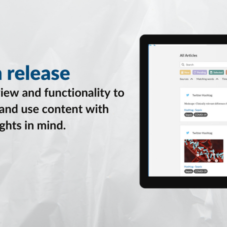 Platform release: Manage articles view