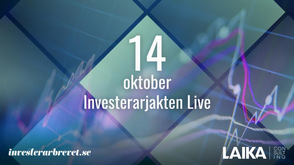 "Hoodin deltar i live-eventet ""Investerarjakten"" den 14:e oktober"