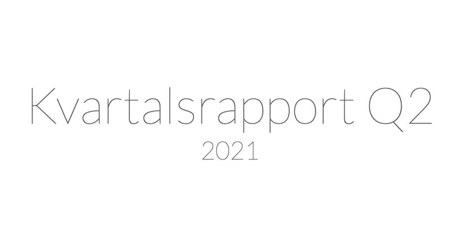 Hoodin AB (publ) publicerar delårsrapport för andra kvartalet 2021