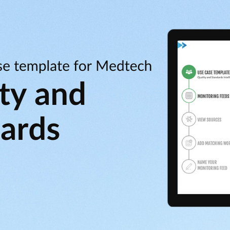 New use case template for Medtech - Quality and standards