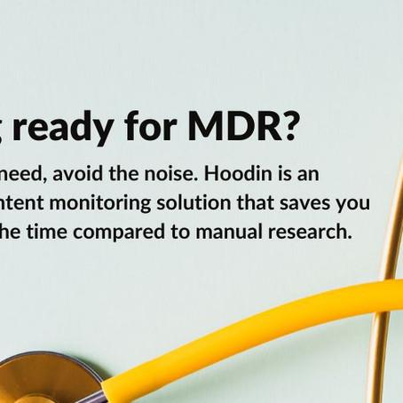Hoodin når nya milstolpar vid dagen för införandet av MDR