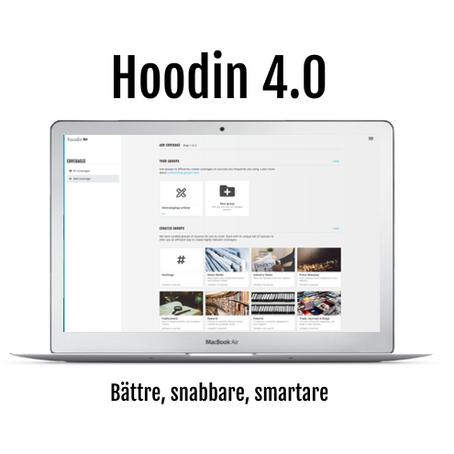 Version 4.0 av Hoodins plattform lanseras idag!