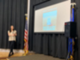 Samantha Romanick presenting at Reno Climate Fair 2019
