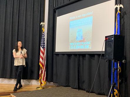 Samantha Romanick presenting at Reno Climate Fair 2019