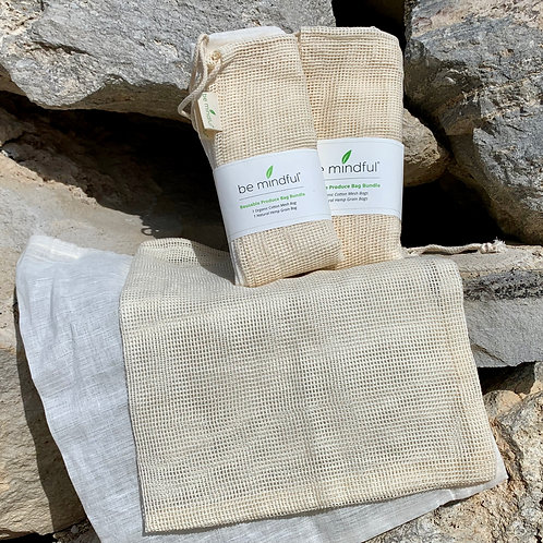 Hemp & Cotton Mesh Produce bag