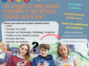 Conférences éducatives sur les dangers d'Internet et les bonnes pratiques sur les réseaux sociaux