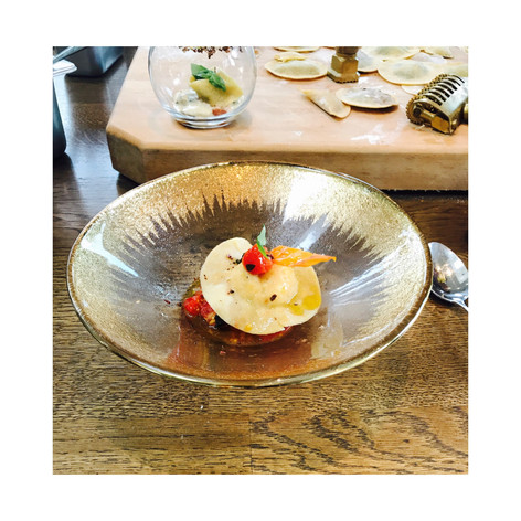 a ravioli dish at KOOKS