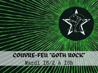"""Couvre-Feu • """"Goth Rock"""" • mardi 23/2 à 18h sur Side Project Radio"""