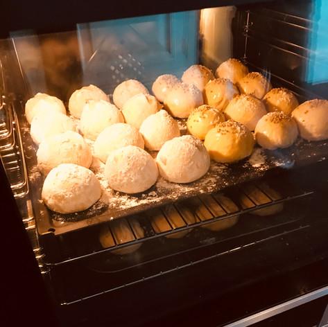 bread baking on our KOOKS bread class