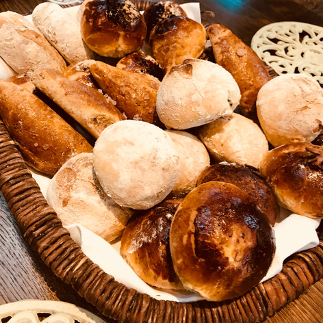 bread basket fresh from the oven
