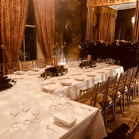 A private client dinner