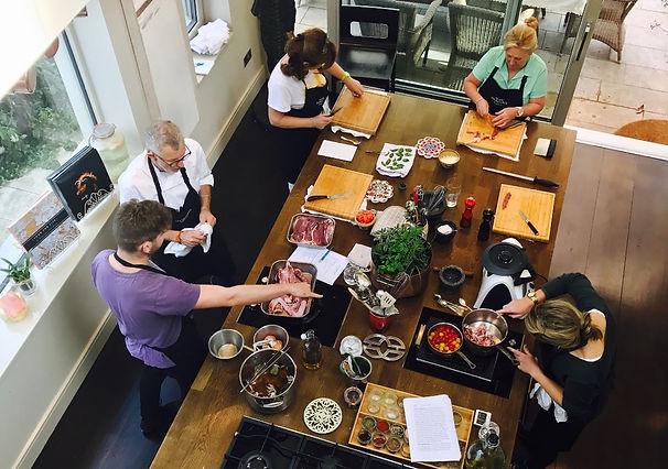 Kitchen glimpse at Kevin Thornton's KOOKS School