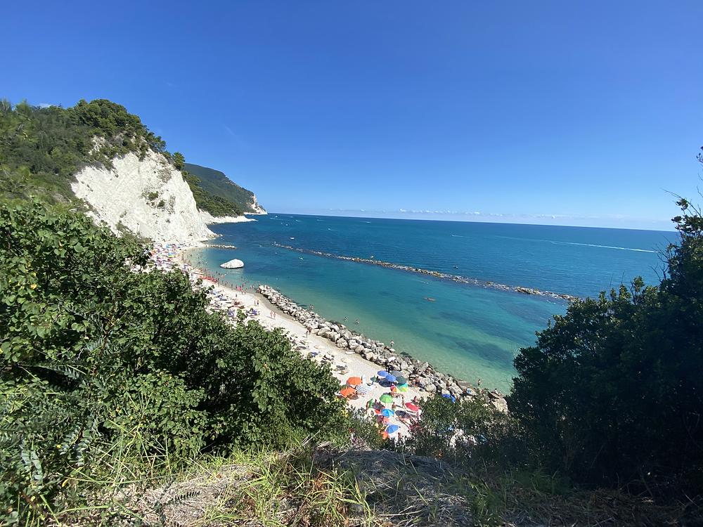 An amazing beach along the Adriatic coast!