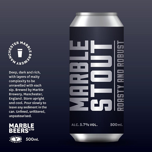 Marble Brewery - Stout 500ml Can