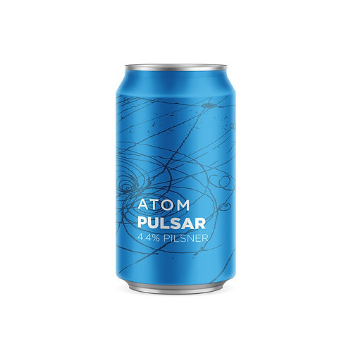 Atom Beers - Pulsar – 4.4% – German Pilsner – 330ml